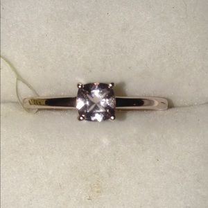 NWT 14K Rose Gold Over .925 Silver Morganite Ring!